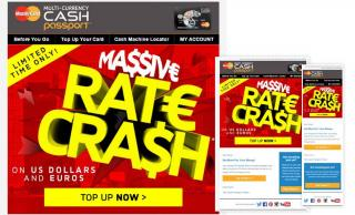 MasterCard Cash Passport Rate Sale Marketing Emails
