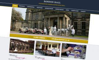 Sandon Hall Website Design
